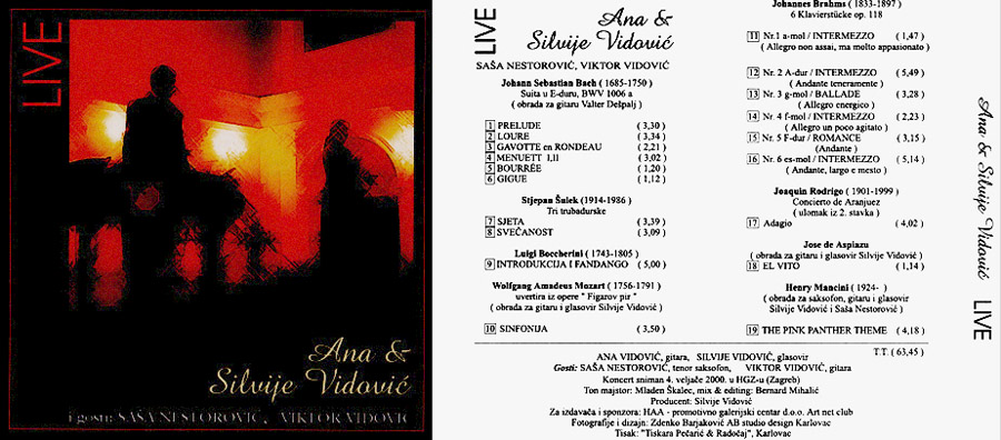 Ana and Silvije Vidovic CD